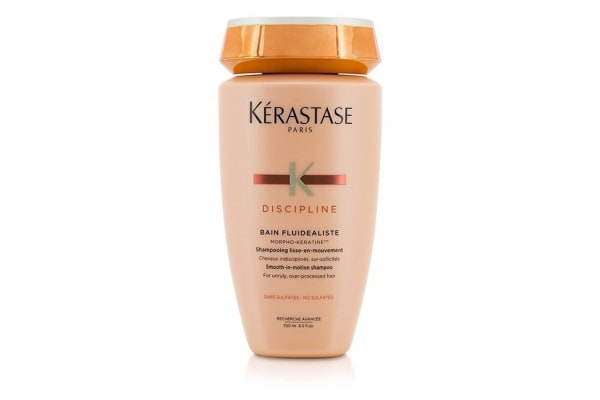 Kerastase Discipline Bain Fluidealiste Smooth-In-Motion Sulfate Free Shampoo - For Unruly, Over-Processed Hair (New Packaging) (250ml/8.5oz)