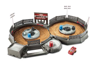 Cars Micro Racer Crank And Crash Derby Playset