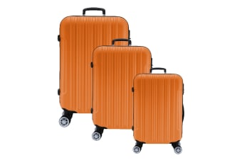 Lenoxx Hard Case Lightweight Luggage Set Of 3 - Orange