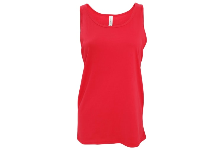 Canvas Adults Unisex Jersey Sleeveless Tank Top (Red) (S)