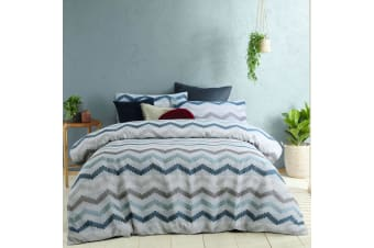Arlo Blue Quilt Cover Set Queen