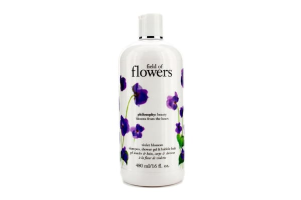 Philosophy Field Of Flowers Violet Blossom Shampoo, Shower Gel & Bubble Bath (480ml/16oz)