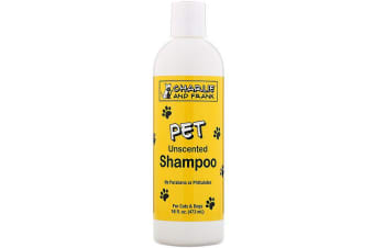 Charlie & Frank Pet Shampoo for Pets Dogs & Animals No Dyes Parabens Phthalates or Phosphates - Unscented, 473ml