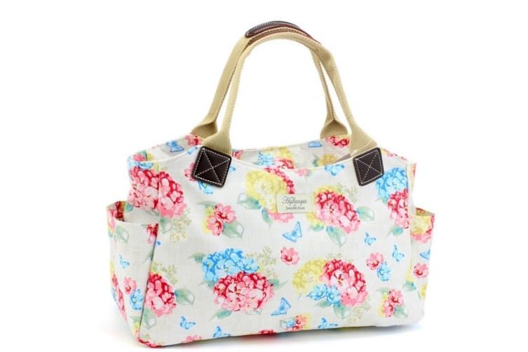 Womens/Ladies Hydrangea Tote Bag (Pink/Blue/Yellow) (One Size)