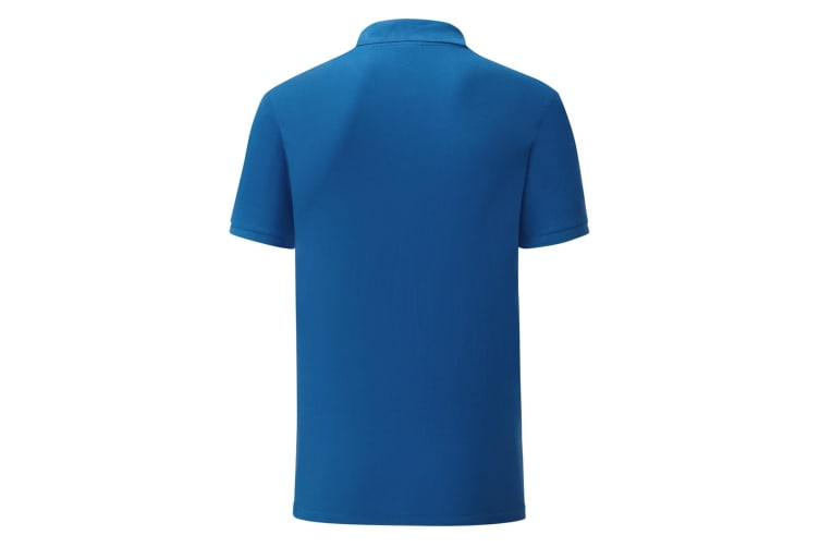 Fruit Of The Loom Mens Tailored Poly/Cotton Piqu Polo Shirt (Royal Blue) (3XL)