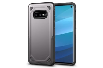 For Samsung Galaxy S10e Case  Grey Shockproof Armour Hard Back Phone Cover