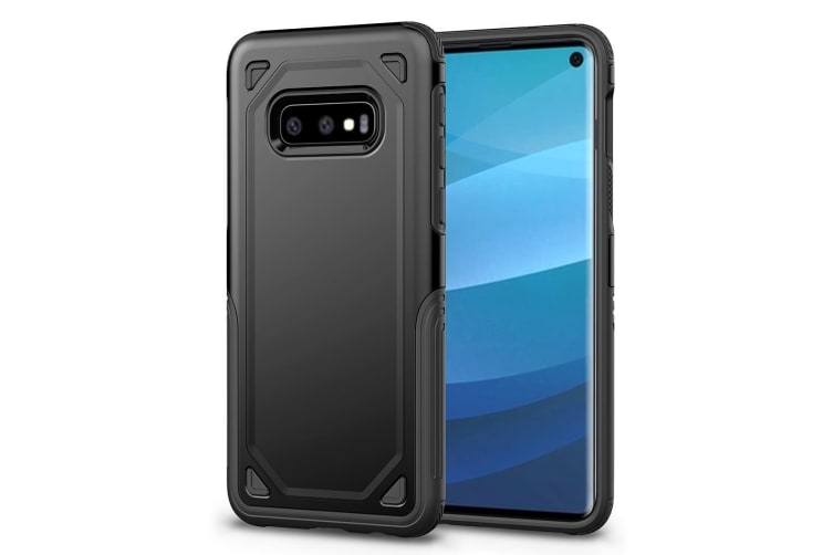 For Samsung Galaxy S10e Case  Black Shockproof Armour Hard Back Phone Cover