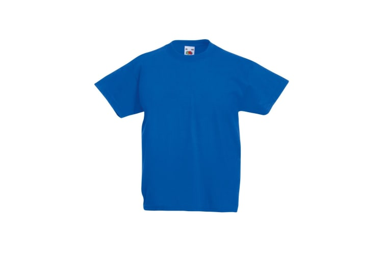Fruit Of The Loom Childrens/Kids Original Short Sleeve T-Shirt (Royal Blue) (3-4 Years)