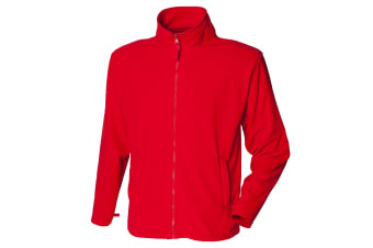 Henbury Mens Microfleece Anti-Pill Jacket (Classic Red) (L)