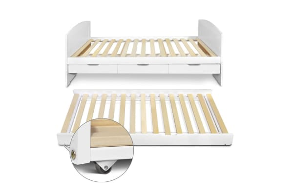 Wooden Trundle Bed Frame (Single)