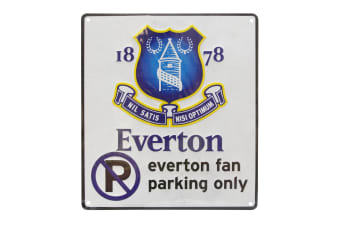 Everton FC Official No Parking Metal Sign (White)