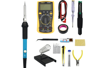 1 set of 14 pcs Soldering Iron Kit, Updated Soldering Gun Kit Best for Electric, Jewellery & Welding Work