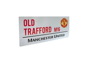 Manchester United FC Official Street Sign (White)
