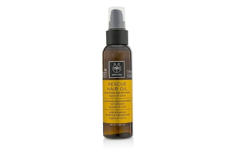 Apivita Rescue Hair Oil with Argan & Olive (For All Hair Types) 100ml