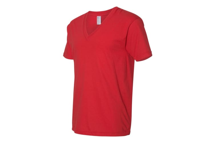 American Apparel Mens Fine Jersey V Neck Tee (Red) (M)