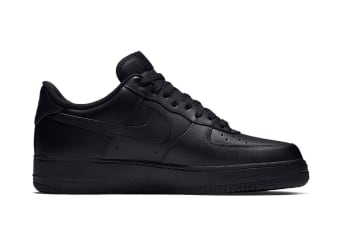 Nike Men's Air Force 1 Low '07 Shoe (Black, Size 8)