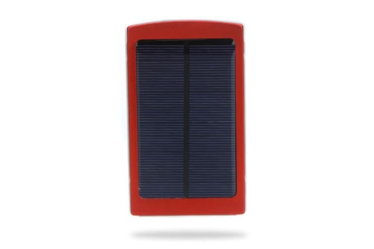 10000mAh External Solar Charger Mobile Power Universal for iPhone iPad Samsung NokiaSmartphones Portable Red Red