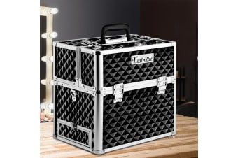 Portable Beauty Case Travel Cosmetic Makeup Box Organiser Carry Strap