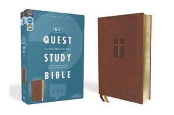 NIV, Quest Study Bible, Leathersoft, Brown, Comfort Print - The Only Q and A Study Bible