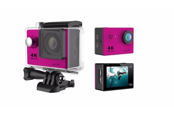 "4K Ultra Hd Sports Camera 30M Waterproof 2"" Lcd H9 Action Camera - Pink"