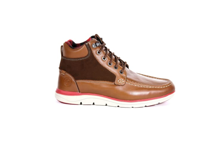 Regatta Mens Denshaw Leather Boots (Glazed Ginger/Senator Red) (12 UK)