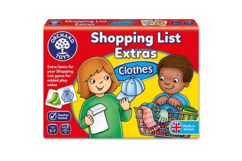 Shopping List Booster Pack Clothes Game by Orchard Toys
