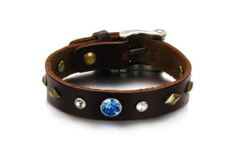 Genuine Leather Wrap Bracelet 2-Leather/Brown
