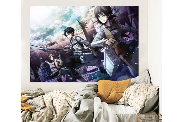 3D Attack On Titan 660 Anime Wall Stickers Self-adhesive Vinyl, 110cm x 110cm(43.3'' x 43.3'') (WxH)