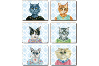 Cinnamon Lady Cat Luncheon Placemats Set of 6