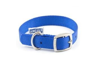 Ancol Nylon Dog Collar (Blue) (14in)