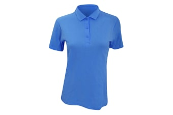 Anvil Womens/Ladies Double Pique Semi-Fitted Polo Shirt (Pool Blue)