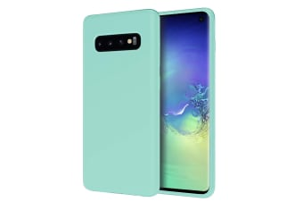 ZUSLAB Galaxy S10 Nano Silicone Case Shockproof Gel Rubber Bumper Protective Cover for Samsung - Mint Green