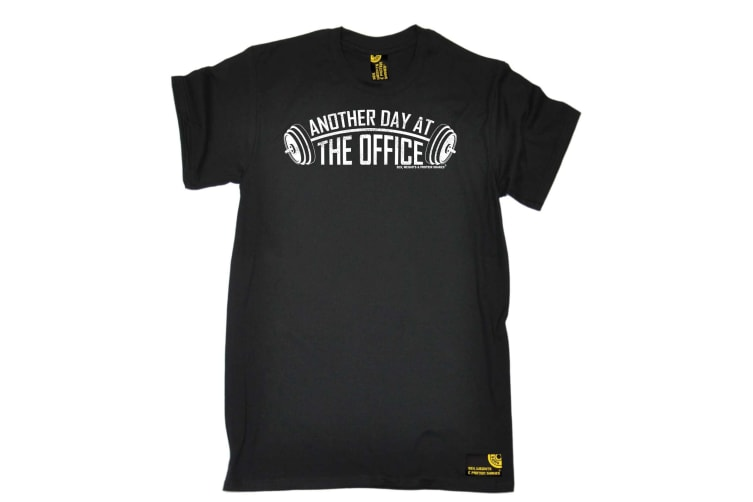 SWPS Gym Bodybuilding Tee - Another Day At The Office - (XX-Large Black Mens T Shirt)