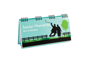 Senior Moments Wit & Wisdom Book | Books By Boxer humour funny satire gift