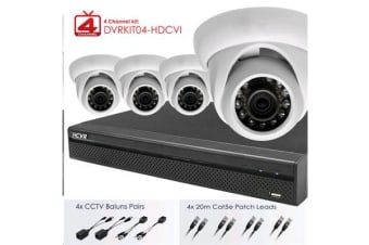 Dahua Full HD 4 Channel Digital     Surveillance Kit. Includes 4Port HD DVR