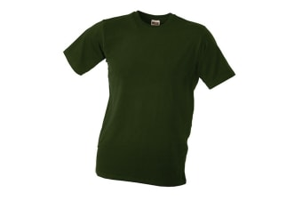 James and Nicholson Unisex Elastic Tee (Olive Green) (S)