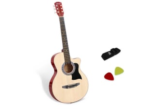 38 Inch Wooden Acoustic Guitar (Natural)