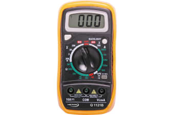 19 Range Digital Multimeter With Data Hold Large display with backlight And Data hold function