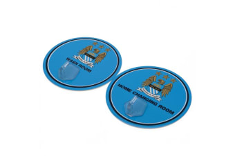 Manchester City FC Robe Hooks (Blue) (One Size)