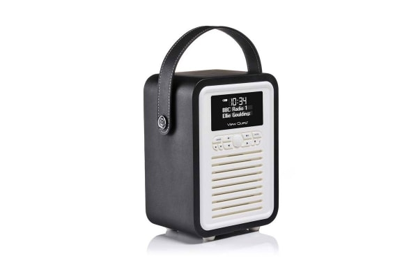 View Quest Retro Mini DAB+ Radio & Speaker - Black (MINI-BK)