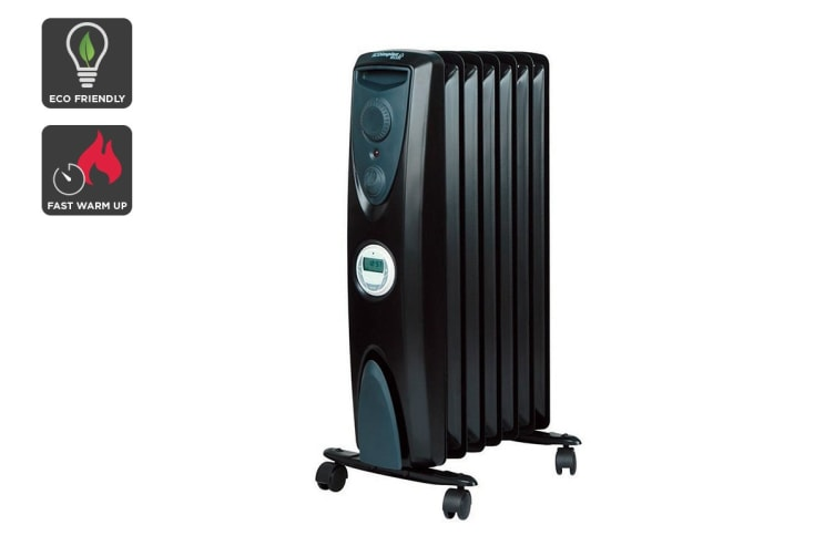 Dimplex 1.5kW Eco 7 Fin Column Heater with Timer - Black (OFRC15TIB)