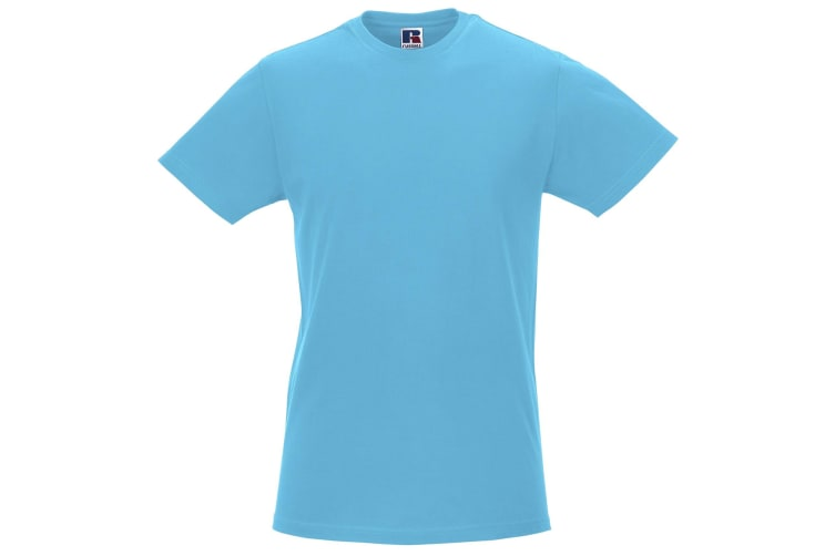 Russell Mens Slim Short Sleeve T-Shirt (Turquoise) (L)