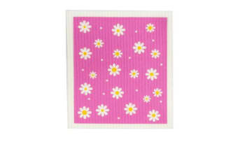 Retro Kitchen Swedish Dish Cloth Daisy