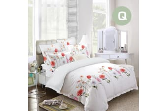 Queen Size Garden Design Quilt Cover Set