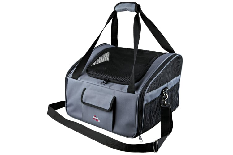 Trixie Dog Car Seat And Carrier (Black/Grey) (44 × 30 × 38 cm)