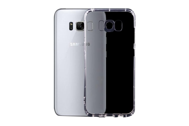 For Samsung Galaxy S8 PLUS Case  Transparent Grippy Durable Shielding Cover