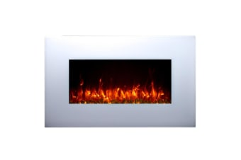 Effie 1500W Wall Mounted Electric Fireplace & Stand - White