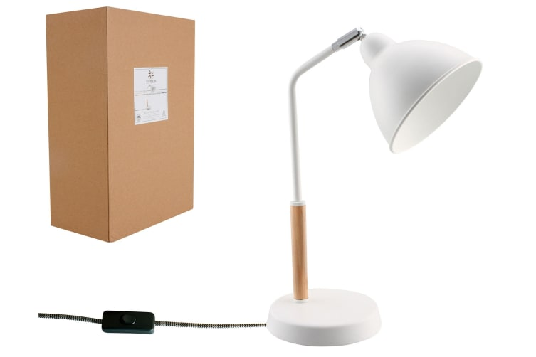 Luminite White Desk Lamp