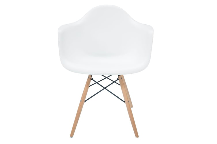 Replica Eames DAW Eiffel Chair | Natural Wood Legs | White