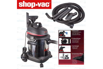 SHOP VAC SUPER 20L STAINLESS STEEL CANISTER WET & DRY VACUUM CLEANER 1400W NEW